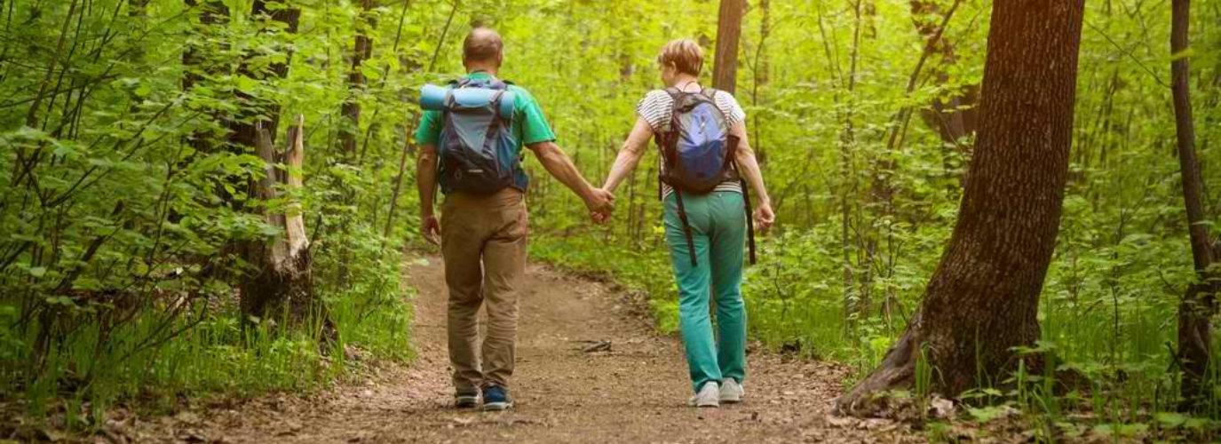 cute couple walking